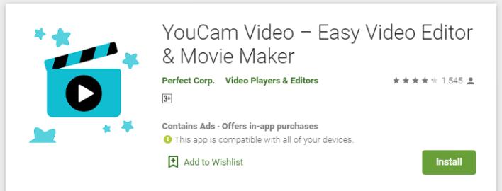 تطبيق يو كام لتعديل وتقطيع الفيديو على الاندرويد