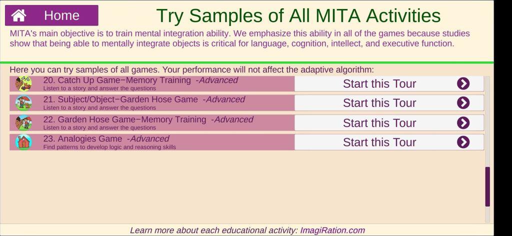 أخر 4 أسئلة في المستوى المتقدم في تطبيق Language & Cognitive Therapy أحد الألعاب التعليمية للأطفال