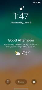 عرض الطقس المحلي على شاشة القفل