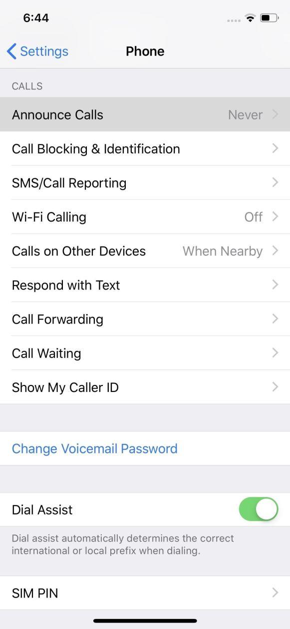 تخصيص المكالمات الهاتفية
