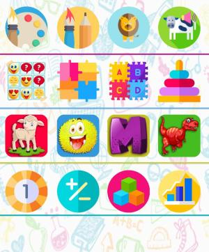 تطبيق 5 years brain game for kids أحد العاب العقل للاندرويد