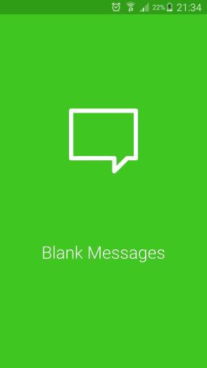 تطبيق Blank Message