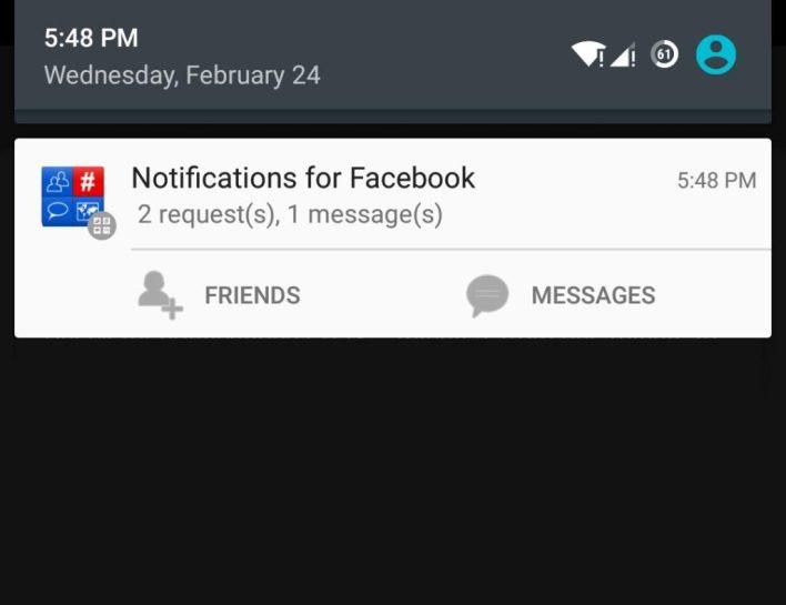 تطبيق Notifications for Facebook