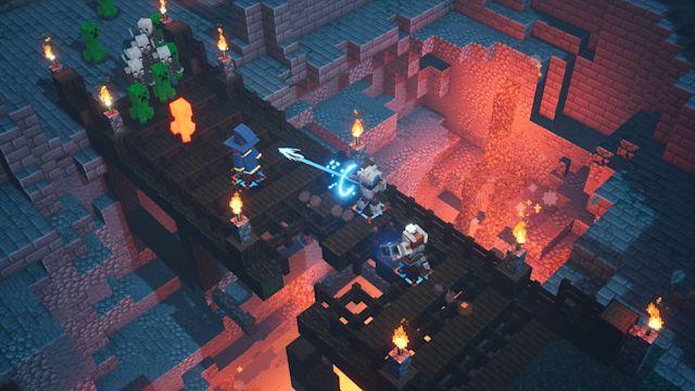 قصة لعبة Minecraft Dungeons