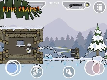 الجرافيك في لعبة mini militia doodle army 2