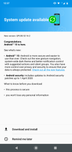 Android 10 for Moto G7