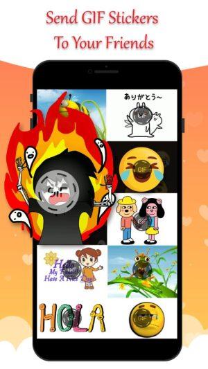 تطبيق Gif Stickers for Messenger & Chat