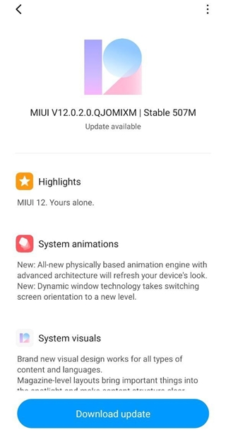 Redmi Note 9 MIUI 12