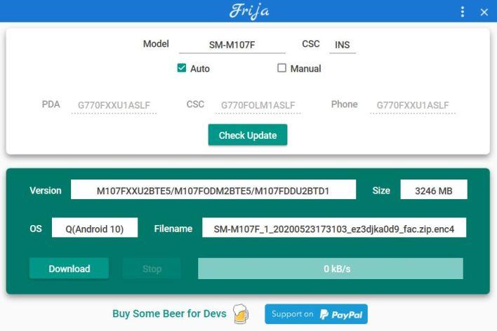 تحميل تحديث اندرويد 10 لهاتف سامسونج m10s بواسطة اداة فريجا