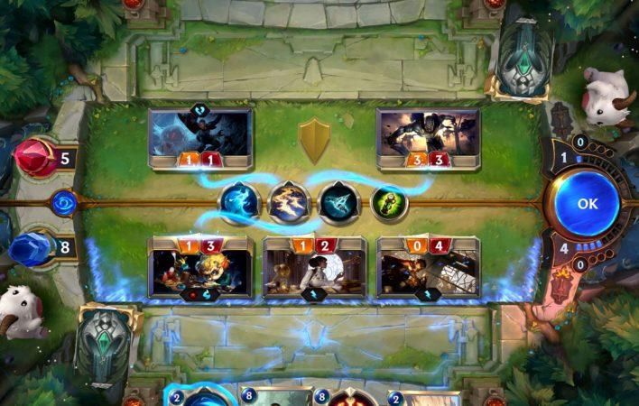البطاقات في لعبة legends of runeterra