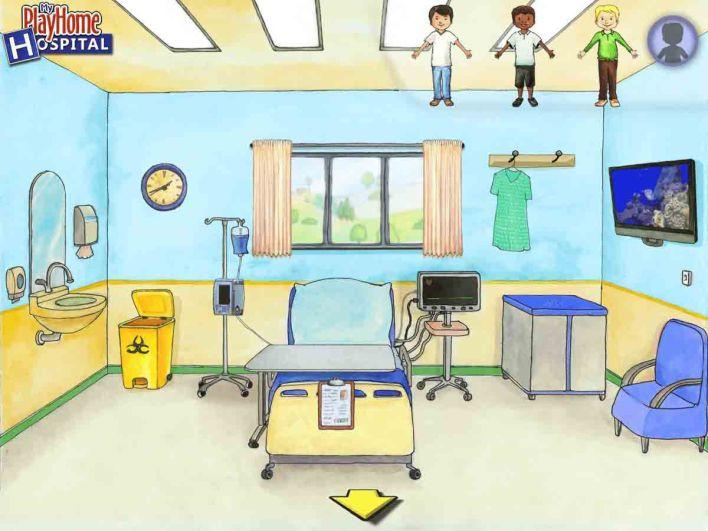 غرفة المريض في لعبة My PlayHome Hospital
