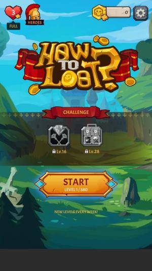 الصفحة الرئيسية للعبة How to Loot - Pin Pull & Hero Rescue