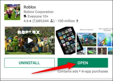فتح لعبة Roblox في نظام كروم بوك