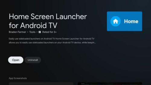 تثبيت Home Screen Launcher for Android TV