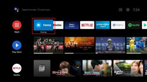 كلمة Home المخصصة لتشغيل Google TV