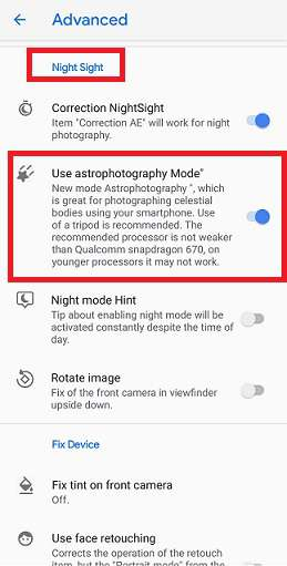 Enable Google Camera Astrophotography Mode Mohamedovic 02