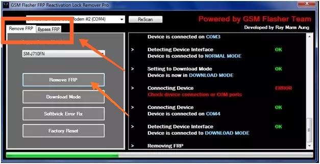 صورة من داخل أداة GSM
