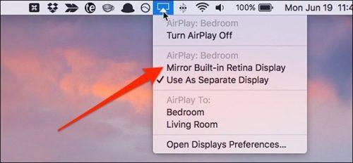 تفعيل خاصية Mirror Built-In Retina Display
