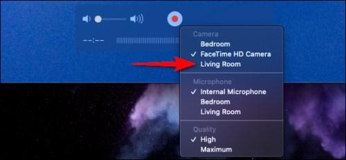 تحديد جهاز الأبل الخاص بك لالتقاط لقطة شاشة بواسطة الماك