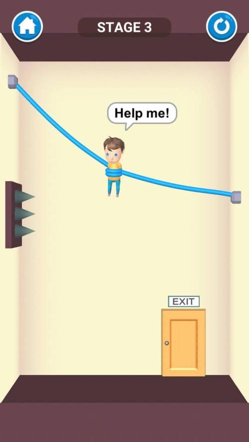 ظهور المسامير في لعبة Rescue Cut