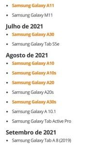 samsung one ui 3.0 brazil timeline