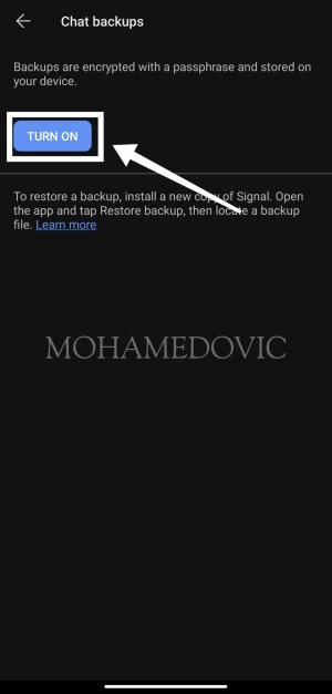 how to create backup and restore it in signal app mohamedovic 06