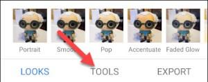 الضغط على Tools المتخصص في أدوات سناب سيد واختيار أداة تقليب الصور
