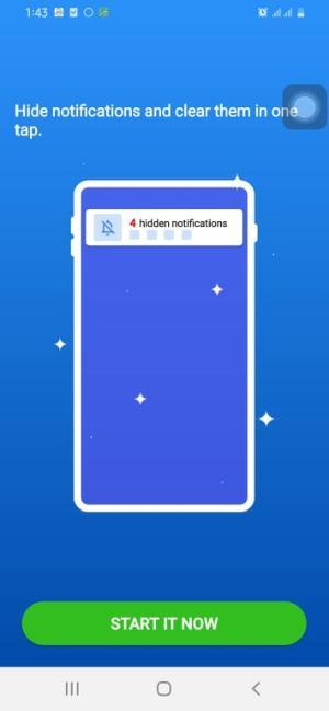 بدء تجميع الإشعارات بالضغط على Start it Now في تطبيق Assistive Touch