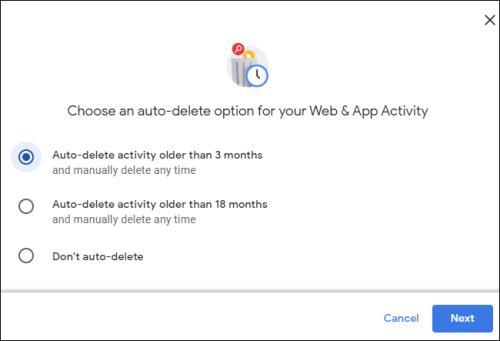 اختيار مدة الحذف التلقائي لمساعد جوجل