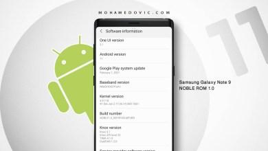 تحديث Galaxy Note 9 إلى One UI 3.1