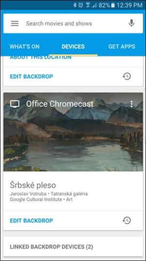 الضغط على قسم الأجهزة في تطبيق Google Home