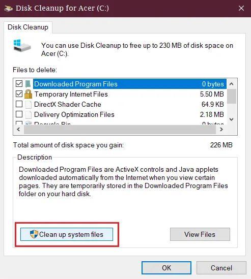طريقة حذف ملفات النسخ الاحتياطي والملفات المخزنة مؤقتا في Windows10