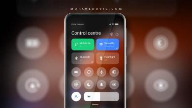 تشغيل مركز التحكم كنترول سنتر في واجهة MIUI على هواتف شاومي، بوكو، ريدمي