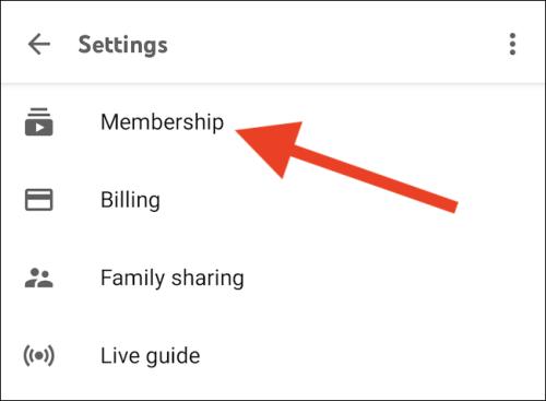 اختيار العضوية أو Membership