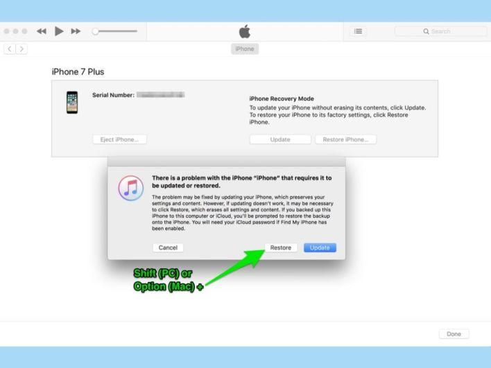 شرح استرجاع نظام iOS قديم