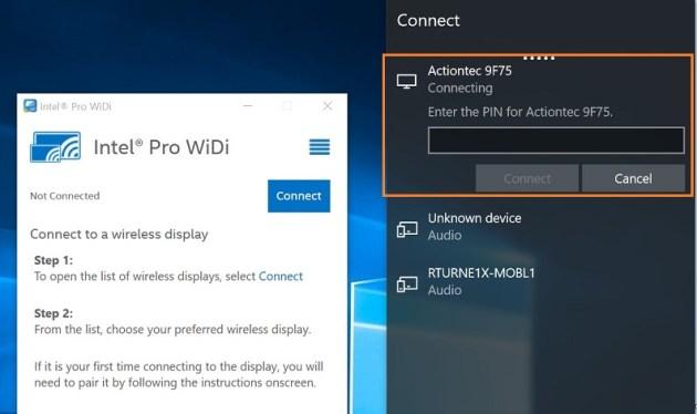 عرض الكمبيوتر ويندوز 10 على الشاشة