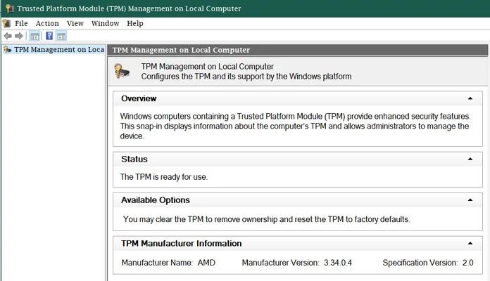 كيفية التأكد من رقم إصدار TPM في ويندوز