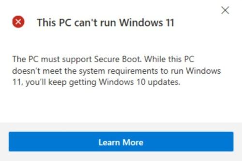 ويندوز 11 غير داعمًا للتثبيت على هذا المعالج