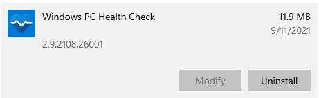 PC Health Check 2.9.2108.26001