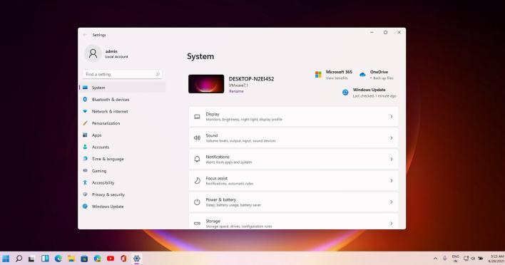 تطبيق إعدادات جديد لويندوز 11