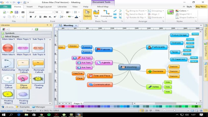 برنامج Edraw Mind Map