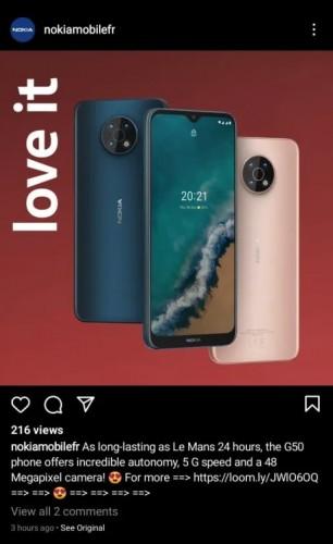 Nokia G50 5G leaks