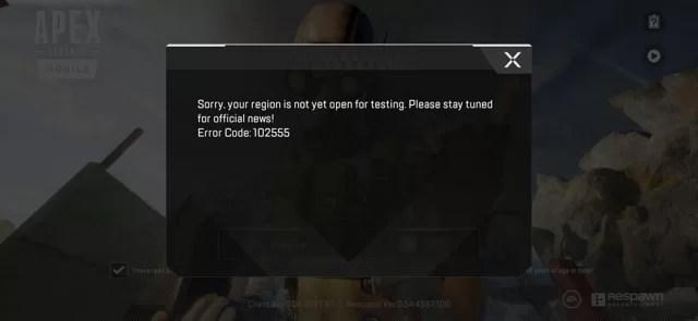 """كيفية حل مشكلة رسالة """"Sorry, your region is not yet open for testing"""" في لعبة Apex Legends؟"""