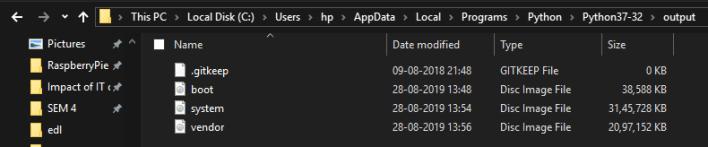 custom rom output folder