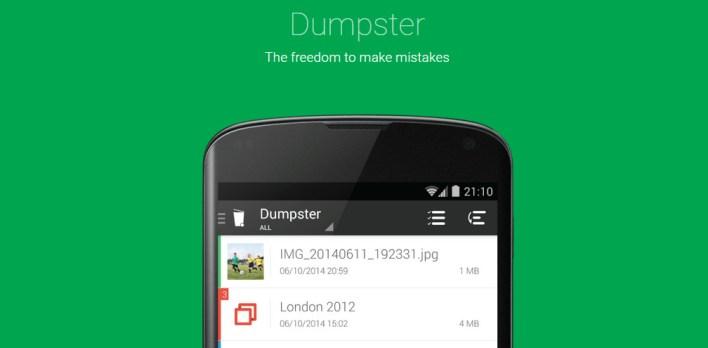 استرجاع الرسائل باستخدام تطبيق Dumpster
