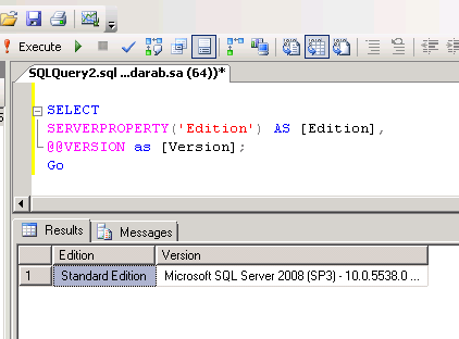 Find Edition of SQL Server