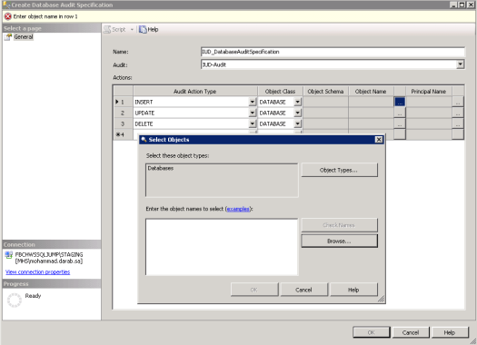 Create Database Audit 4