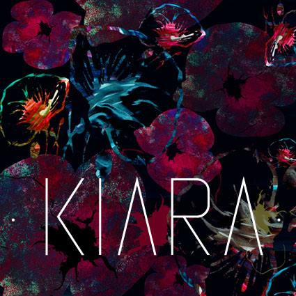 KIARA collection textile made in france design stylisme original fleurs flowers rouge bleu profond