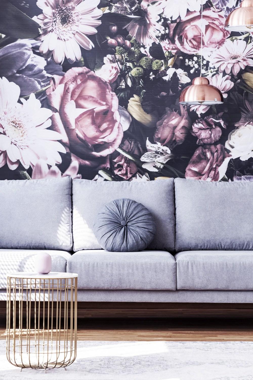 décoration salon avec papier peint