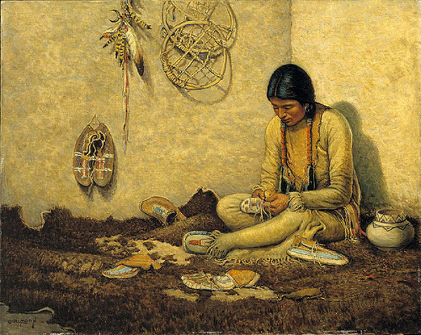 Women of the world can be moccasin makers an war breakers!